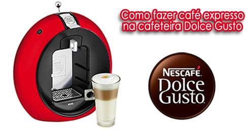 Como fazer café expresso na cafeteira Dolce Gusto
